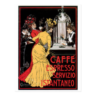 Caffe Espresso Vintage Coffee Drink Ad Art Postcard