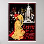 Caffe Espresso Vintage Coffee Drink Ad Art Poster