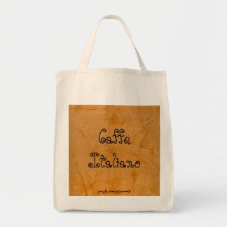 Caffe Italiano Tuscan Orange Grocery Bag
