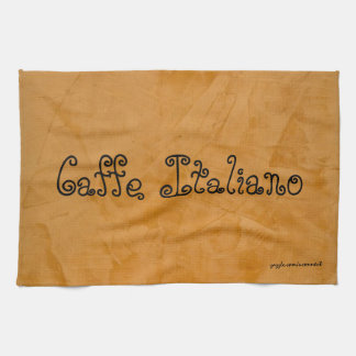 Caffe Italiano Tuscan Orange Kitchen Towel