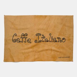 Caffe Italiano Tuscan Orange Kitchen Towel
