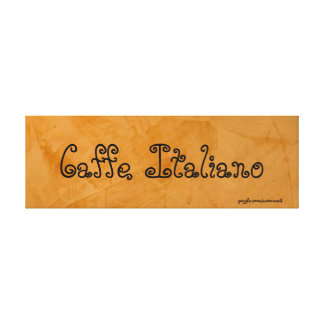Caffe Italiano Tuscan Orange Painting Stretched Canvas Prints