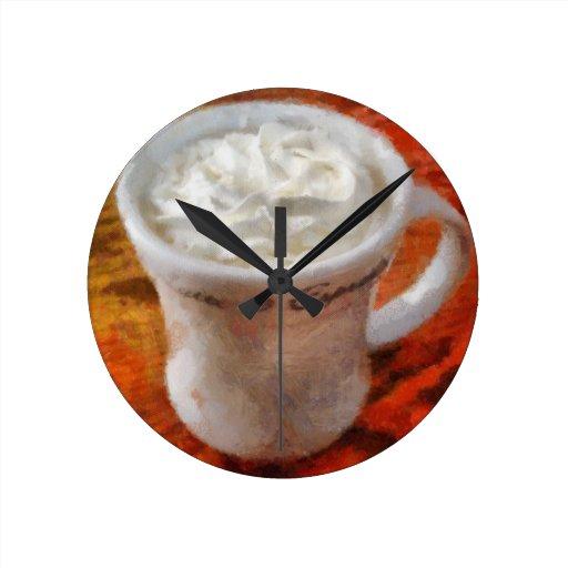 Caffe Latte Wall Clocks