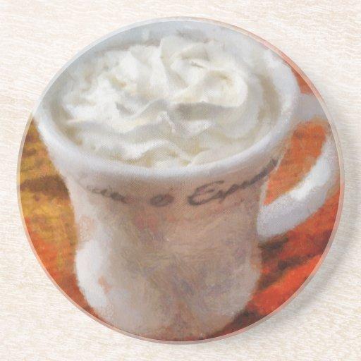 Caffe Latte Beverage Coaster