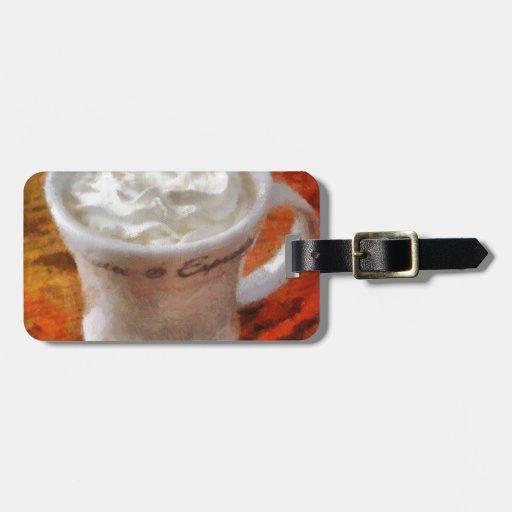Caffe Latte Luggage Tags