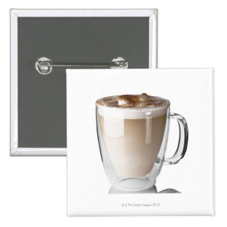 Caffe latte on white background cut out pins