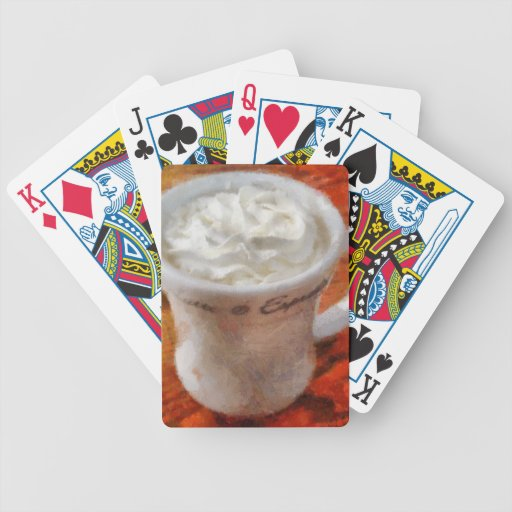 Caffe Latte Bicycle Poker Cards