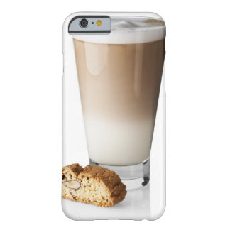 Caffe latte with biscotti, on white background, barely there iPhone 6 case