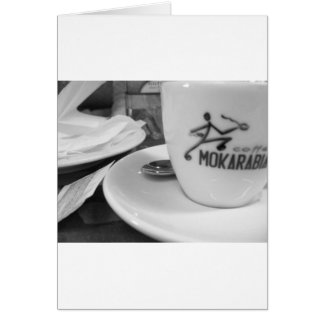 caffe lunch greeting card