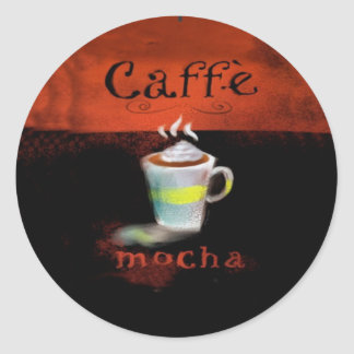Caffe Mocha Stickers Coffee