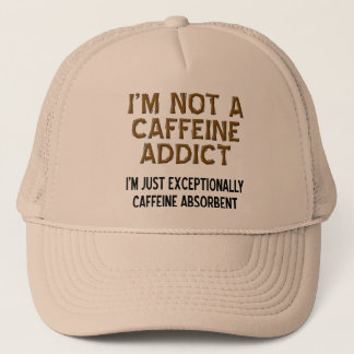 Caffeine Absorbent Funny Ball Cap Hat