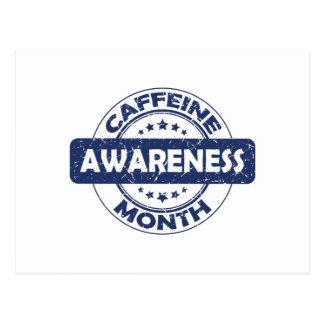 Caffeine Awareness Month - Appreciation Day Postcard