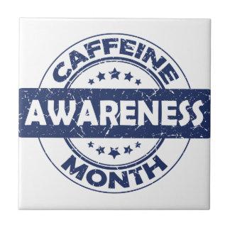 Caffeine Awareness Month - Appreciation Day Small Square Tile