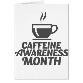 Caffeine Awareness Month March - Appreciation Day Card