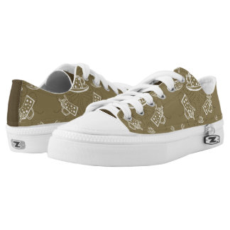 caffeine cup printed shoes