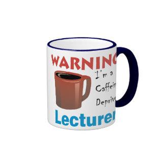 Caffeine Deprived Lecturer Ringer Mug