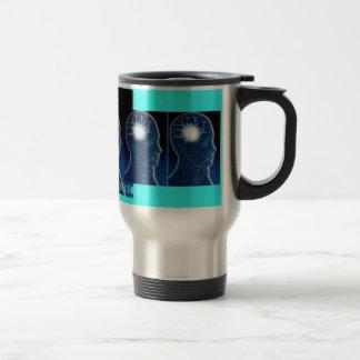 CAFFEINE ITS THE REAL THING. TRAVEL MUG