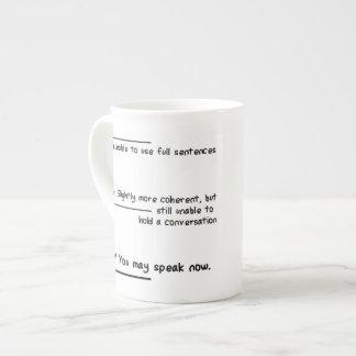 Caffeine Level Measurements Bone China Mug