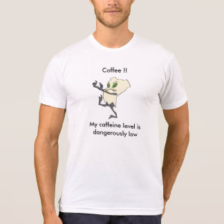 """Caffeine Level"" Zombie Tooth® T-shirt"