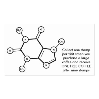 caffeine molecular structure Double-Sided standard business cards (Pack of 100)