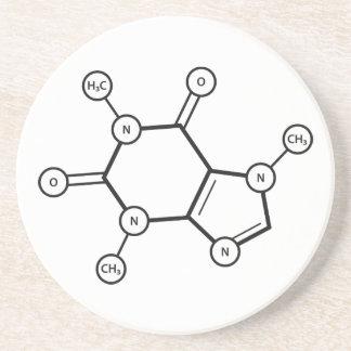 caffeine molecular structure coasters