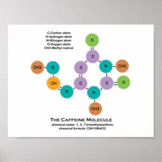 "Caffeine Molecule 11"" x 8.5"", Poster Paper (Matte)"