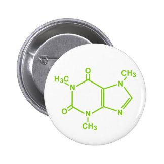 Caffeine Molecule Pin