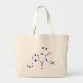 Caffeine Molecule Jumbo Tote Bag