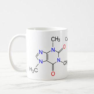 Caffeine molecule classic white coffee mug