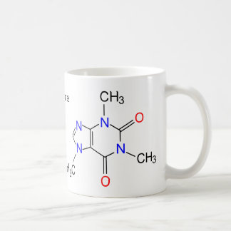 Caffeine molecule coffee mugs