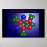 Caffeine Molecule (print) Poster
