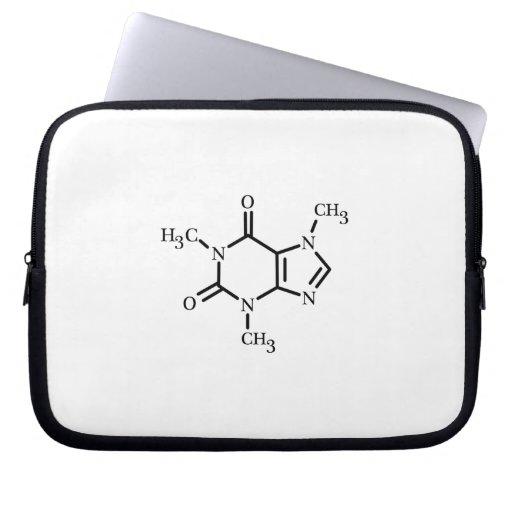 Caffeine Molecule Sleeve Laptop Computer Sleeves
