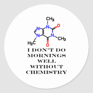 Caffeine Morning Black The MUSEUM Zazzle Gifts Classic Round Sticker