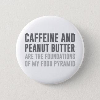 Caffeine & Peanut Butter 6 Cm Round Badge