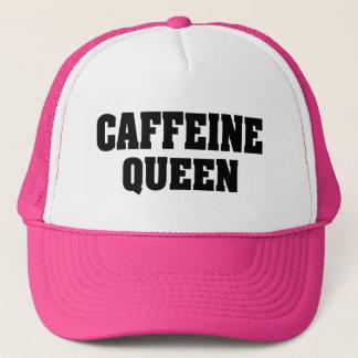 Caffeine Queen funny women's trucker hat