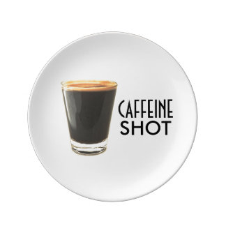 Caffeine Shot Decorative Plate Porcelain Plates