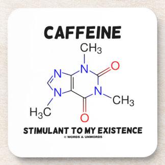 Caffeine Stimulant To My Existence Molecule Beverage Coasters