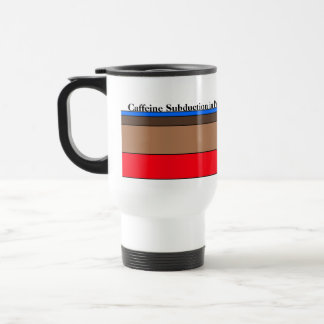 Caffeine Subduction in Progress Travel Mug