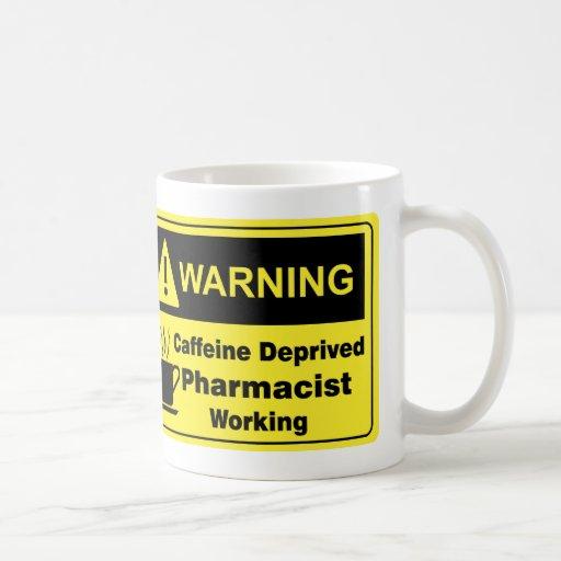 Caffeine Warning Pharmacist Coffee Mugs