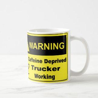 Caffeine Warning Trucker Coffee Mug