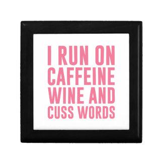 Caffeine Wine & Cuss Words Gift Box