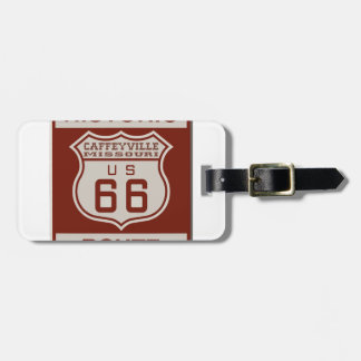 CAFFEYVILLE66 LUGGAGE TAG