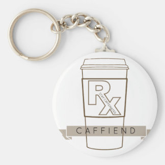 Caffiend Key Ring