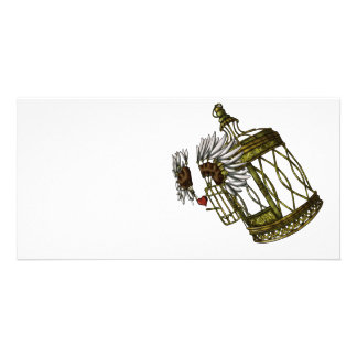 Caged Heart Picture Card