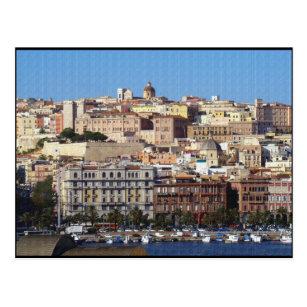 Cagliari City Italy Flag Cufflinks