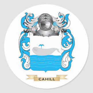 Cahill Coat of Arms (Family Crest) Round Stickers