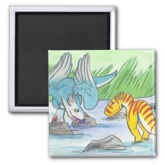 Caiden and Koel - The Gift Square Magnet