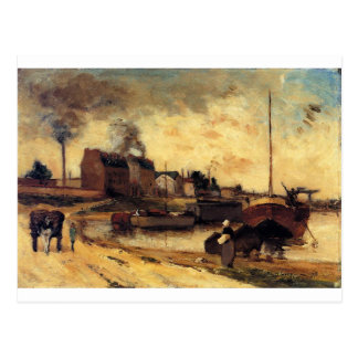 Cail Factories and Quai of Grenelle by Paul Gaugui Postcard
