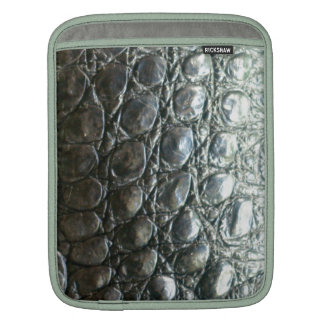 Caiman Crocodile Faux Alligator-Skin Design iPad Sleeve