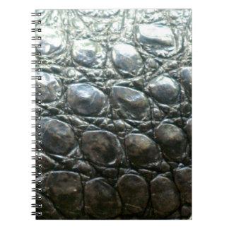 Caiman Crocodile Faux Alligator-Skin Design Notebook